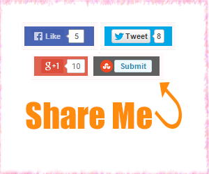 Below Post Footer / Below Post Title Social Sharing Widget For Blogger Blog