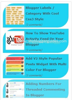 Animated Recent Posts Widget for Blogger