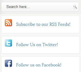 Social Media Widget With Search Box for Blogger