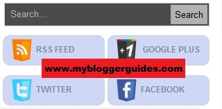 How To Add Search Box With Social Buttons To Blogger