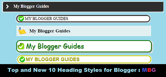 how to customize change heading style in blogger