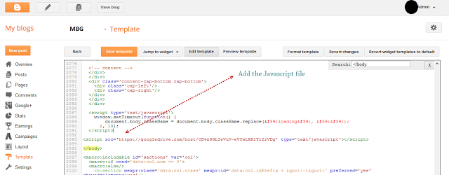 Host and Add .Js Files To Blogger Using Google Drive