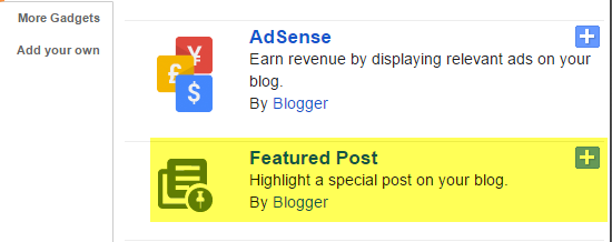 Featured Post Widget Add From Layout Section