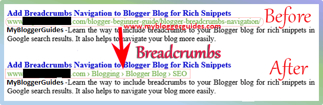 Show Blogger Labels (Breadcrumb) in Google Search Result