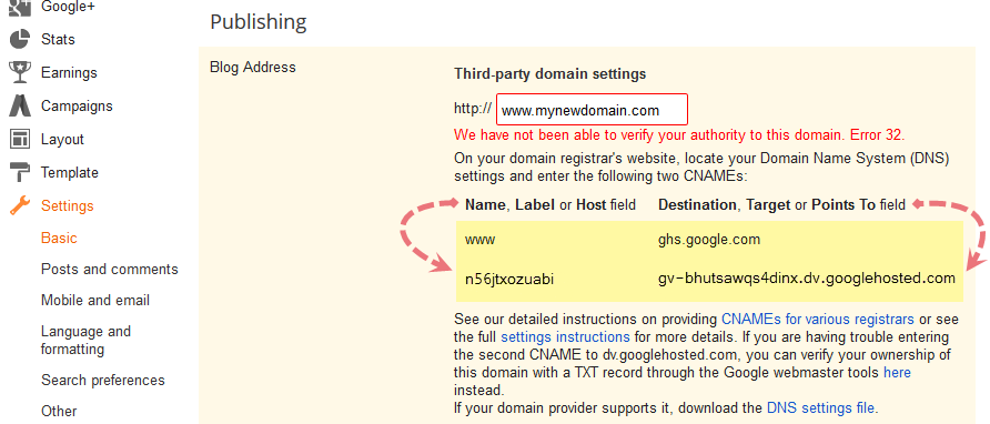 complete guide for setting up blogger custom domain