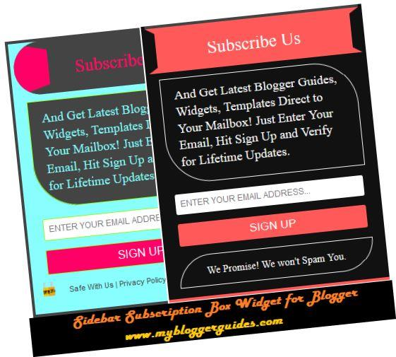 How To Add Stylish Subscription Widget for Blogger to the Sidebar