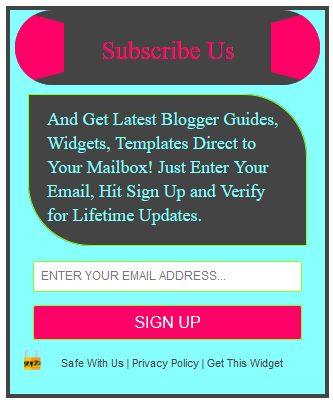 Stylish Subscription Box Widget Style1 for Blogger