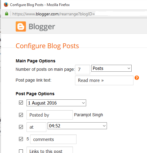 Layout setting for Blogger Post Author Box