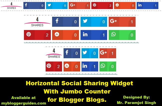 Floating Jumbo Share Counter,Jumbo Share Bar, Floating Social Share Bar for Blogspot, Social Sharing widget for blogger blogs