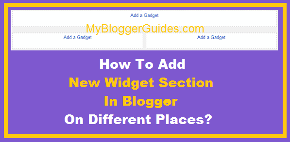 New Gadget Section, Widget Section, Widget Container