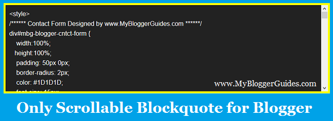 Scrolled blockquote, customize blockquote