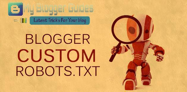 best custom robots.txt for blogger