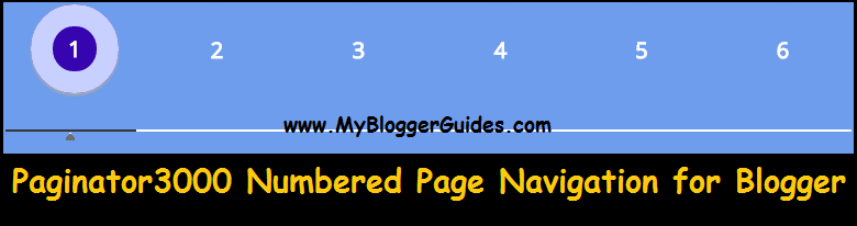 Numbered Page Navigation Widget for Blogger, Pagination Widget for Blogger/BlogSpot