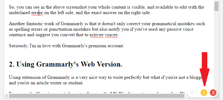 Grammarly Review, Using Grammarly Extension