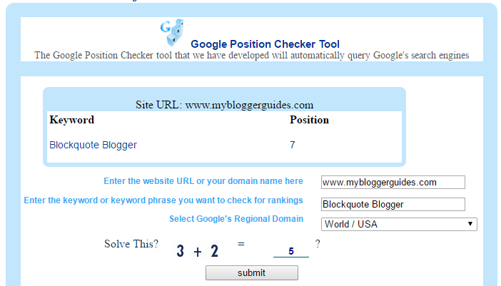 Google Keyword Position Checker, Google Rank Checker Tools