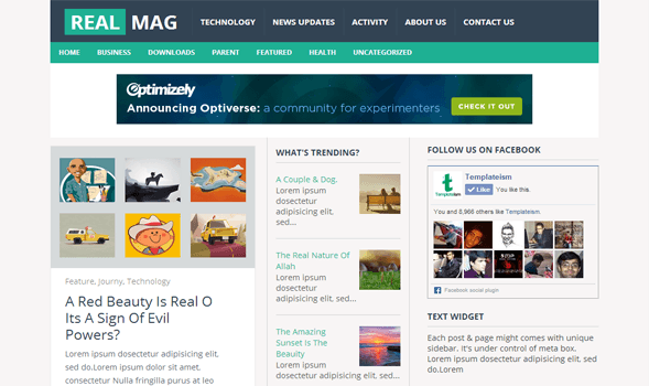 Real Mag Free Blogger Template