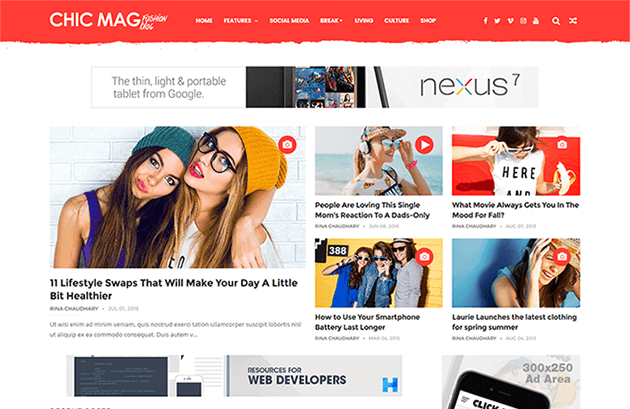 ChicMag Fashion Free Blogger Template