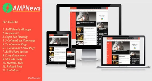 AMP News Blogger Template