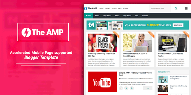 The AMP Blogger Template